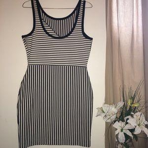 Striped Body Con Dress